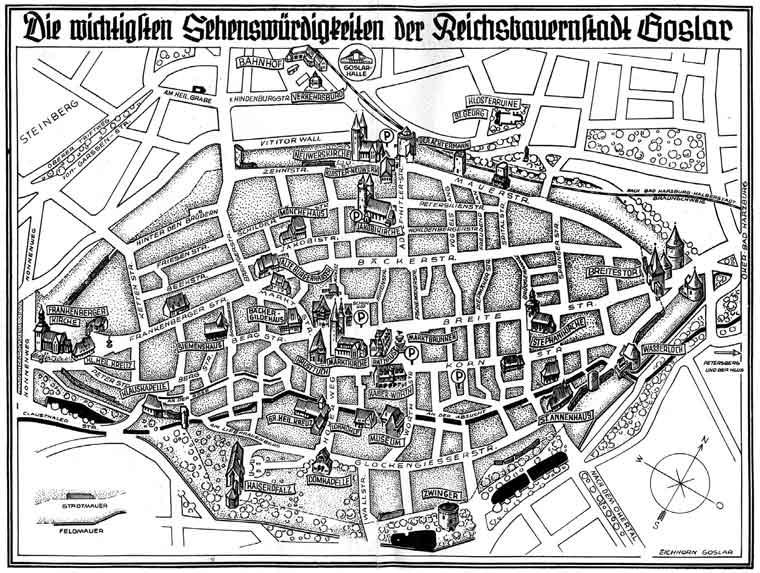 Goslar Karte